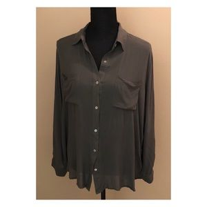 Army Green Button Down Shirt The Hanger Blouse